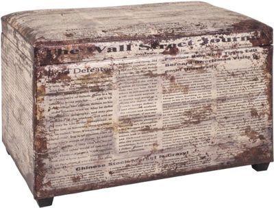 Moderná truhlica z masívneho dreva s polstrovaným sedákom, v textilnej koži so vzorom vintage -starodávny vzhľad, s úložným priestorom. Max.nosnosť 85kg. Objem 79l.  Š/V/H: 65/42/40 cm