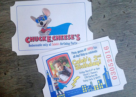 best 25+ chuck e cheese ideas on pinterest | arcade game room, Birthday invitations