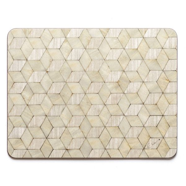 4 Large Ivory Pearl Colour Placemats Heat Resistant 140 Melamine 108 Liked On Polyvore Featuring Home Kitc Coloring Placemats Grey Placemats Placemats