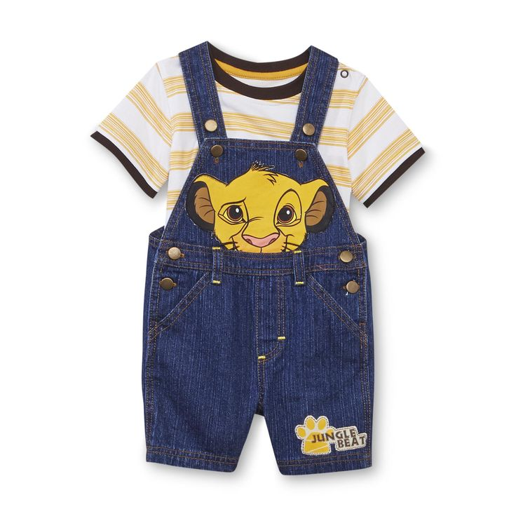 Disney Baby Newborn Boy's T-Shirt & Overalls - The Lion King