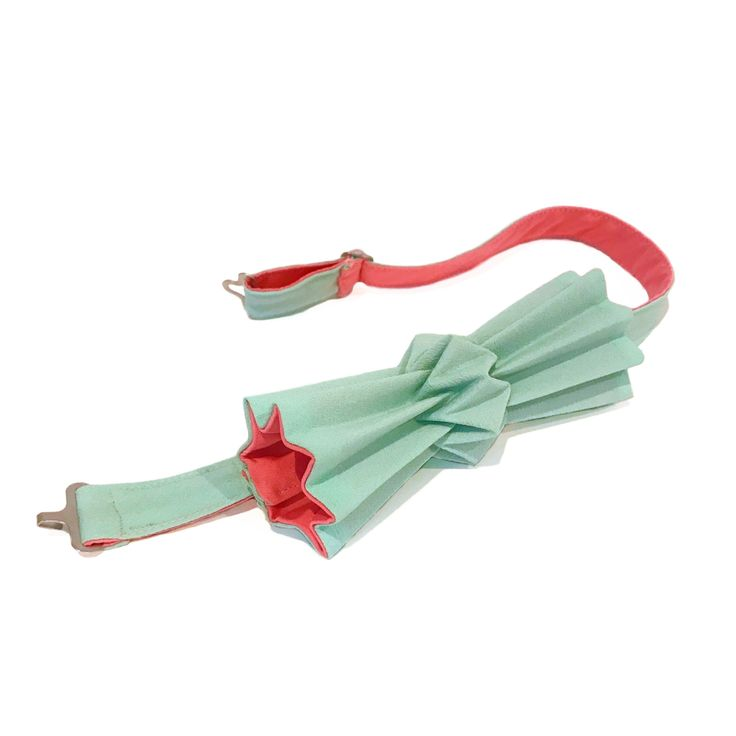 Noeud papillon origami lagon & rose