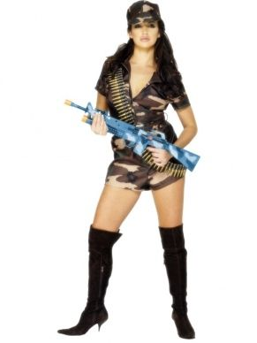 Army Girl Sexy Leger Kostuum
