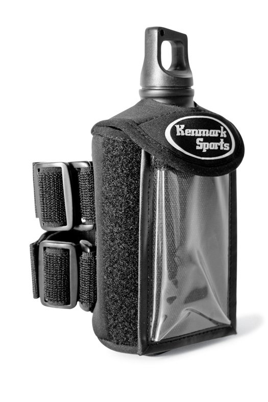 The Kenmark Sports Armband Water Bottle is the first to double as a smartphone case. The 6.4-ounce band holds both a 16-ounce bottle and a phone or MP3 player in a protective sheath. Kenmark Sports Armband Water Bottle $30