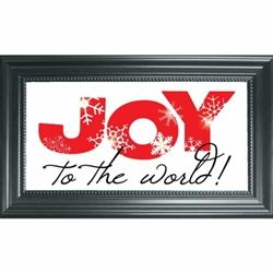 CL063 - Joy to the World  Clearly Yours Framed Art - Holiday Collection*    Floating design with SWAROVSKI CRYSTAL ACCENTS surrounded by Classic Frame gives the piece dimension and allows the background decor to shine through.  Framed glass sentiments add a fresh new look to your home!