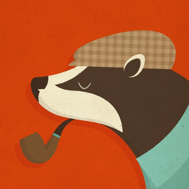 """""""Country Badger; A distinguished British creature"""" By Zara Picken Illustration"""