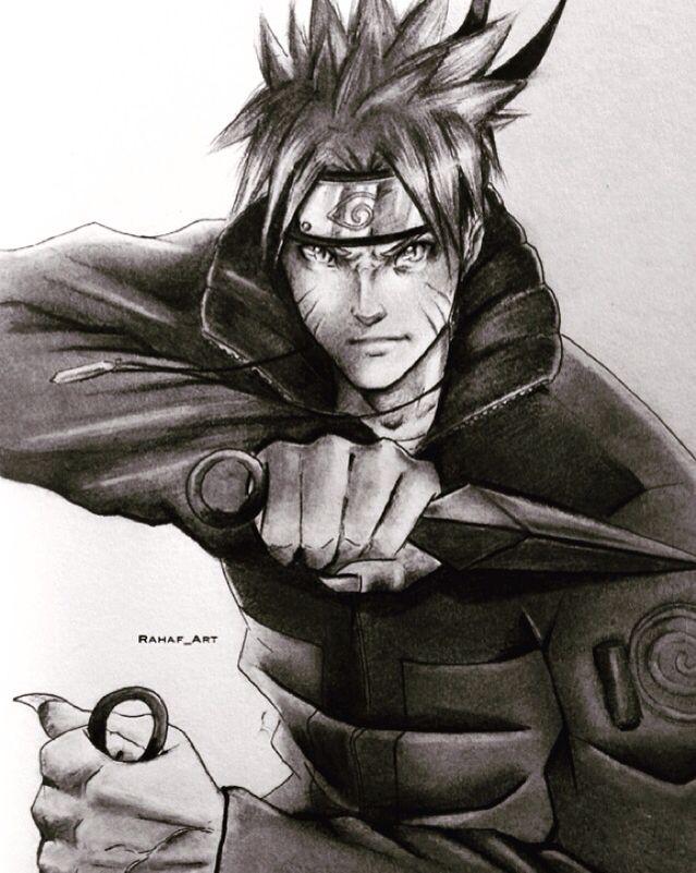 Naruto Fanart   Artist's Instagram : Rahaf_art