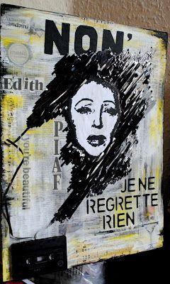 artBASM: Edith PIAF - NON, je ne regrette rien - Mixed Media Collage by BASM