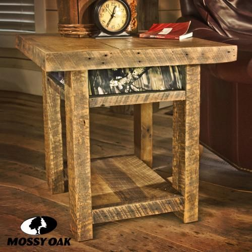 Mossy oak camo collection end table camo pinterest for Camo kitchen ideas