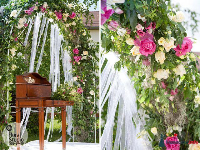 Свадебная арка из роз сорта Дэвид Остин. | Фото в фотоальбоме Свадебные арки от Floralstudio - частная флористическая компания на Невеста.info