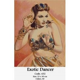 Counted Cross Stitch Kit - Exotic Dancer