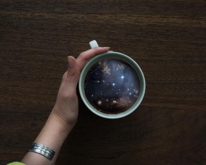'I want a cup of galaxy please!' #CoffeCupManipulation