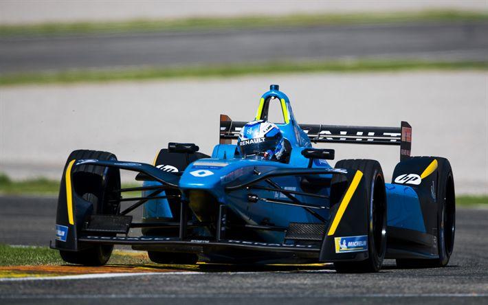Download wallpapers Nicolas Prost, 4k, Formula E, FIA, Renault eDams, race driver, Renault ZE 17