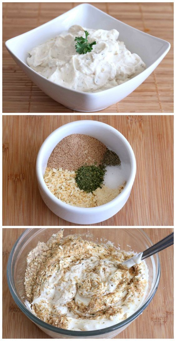 Homemade French Onion Dip Mix without all the junk ingredients! #dips #recipes…