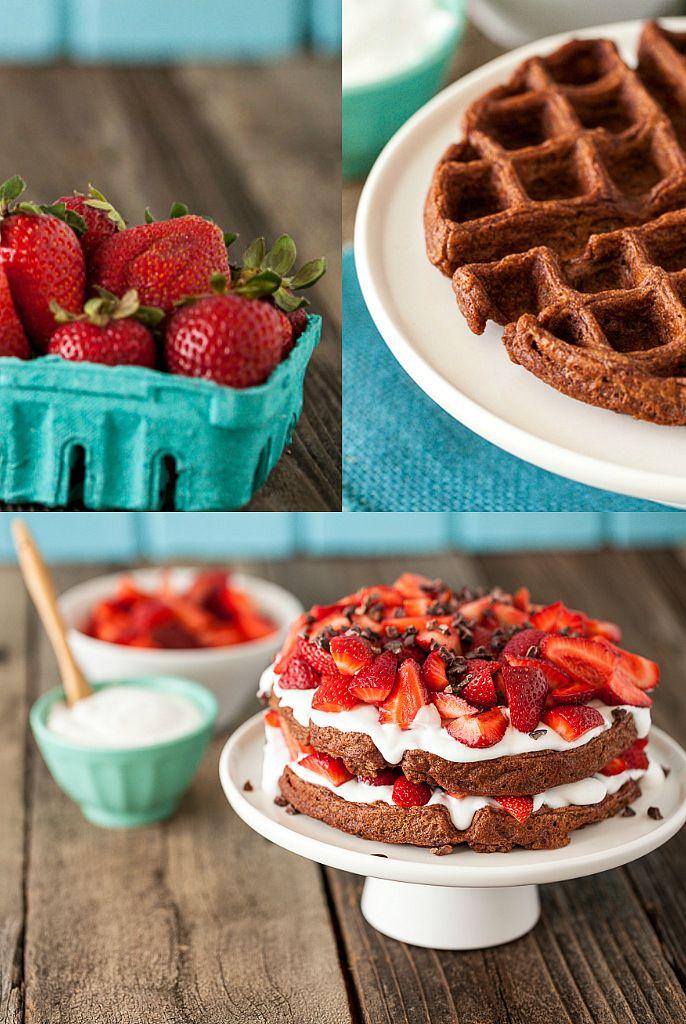 Chocolate Strawberry Shortcake Waffles & a NuNaturals Giveaway! -