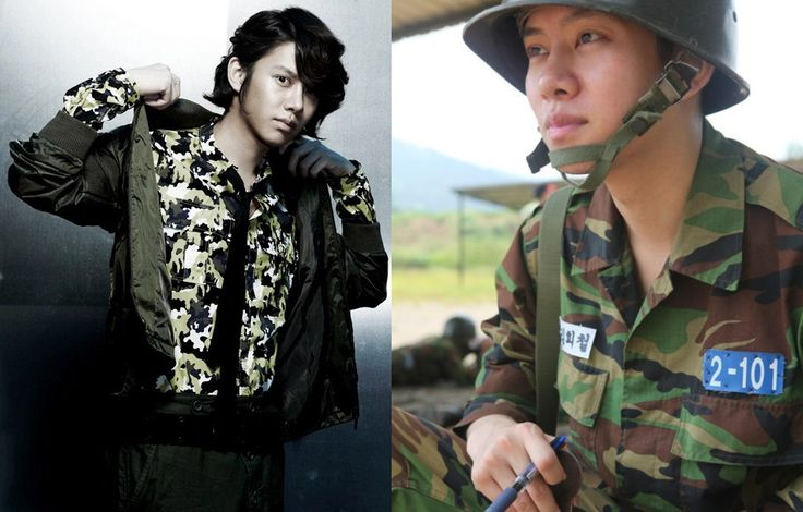 10 Korean idol military looks: On stage vs. on active duty