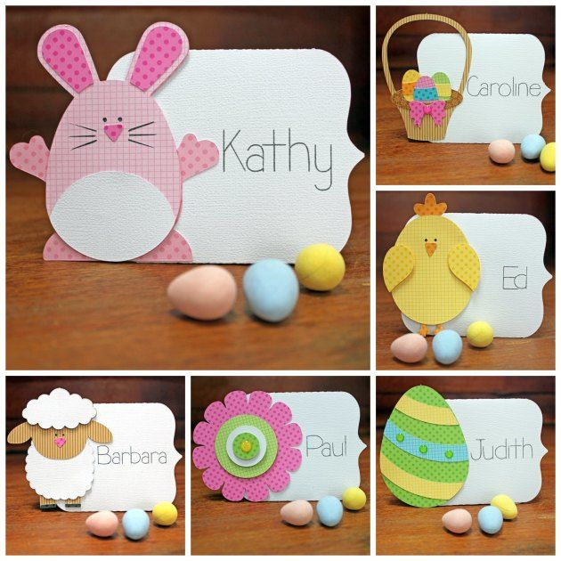 Easter Place Cards by Kathy Skou (using cutting files & font by Lori Whitlock).