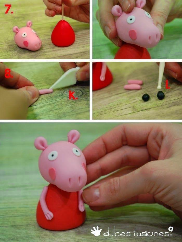 atendendo a mais um pedido, encontrei um passo a passo da Peppa Pig de biscuit e vim compartilhar com vocês!! espero que gostem :)         ...