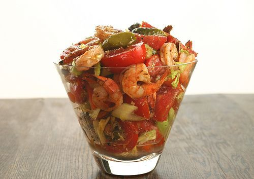 Bloody Mary Salad. Would be great for the holidays with Phickles Pickles added in!