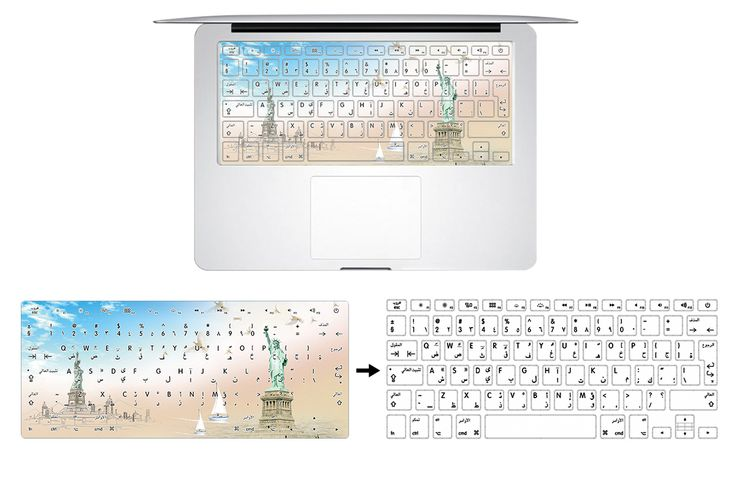 HRH Newest Arabic Language Rubber Keyboard Cover Keypad Skin Protector For Macbook Air Pro Retina 13 15 17 US Layout Drop-ship