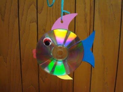 Fish CD craft for Bible Class