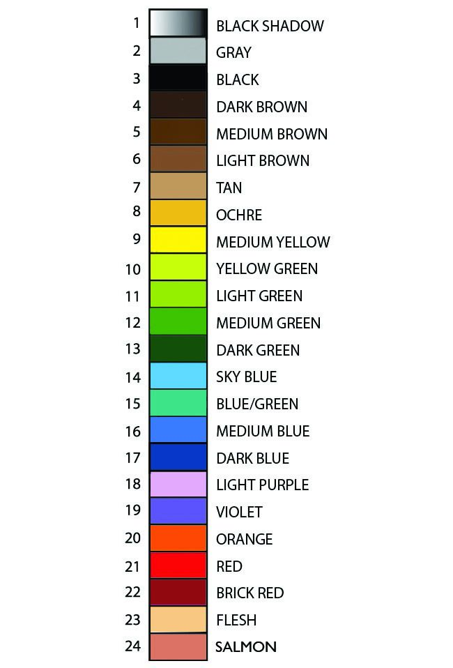 34 best images about color by numbers on Pinterest