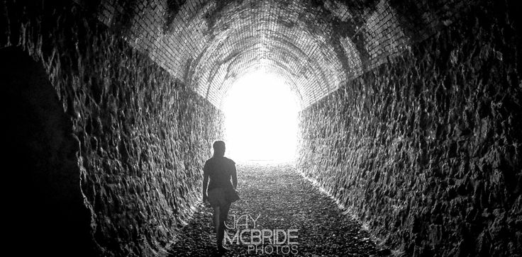Finding the light by http://jaymcbride.photos  #adventure #architecture #erosion #girl #light #lines #night #patterns #railway #rocks #tourism #travel #tunnel #urban #urbanexploration #urbex