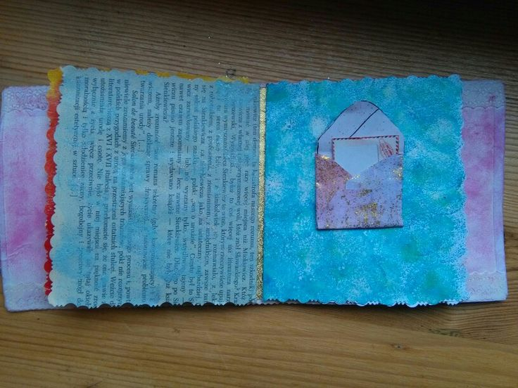 Inside the album, page with a pocket and a tag :-)