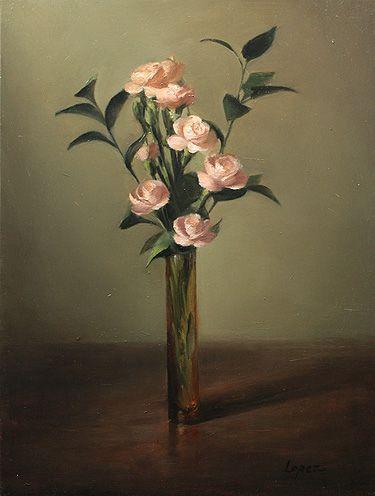 Leah Lopez :: Paintings :: Pink Roses