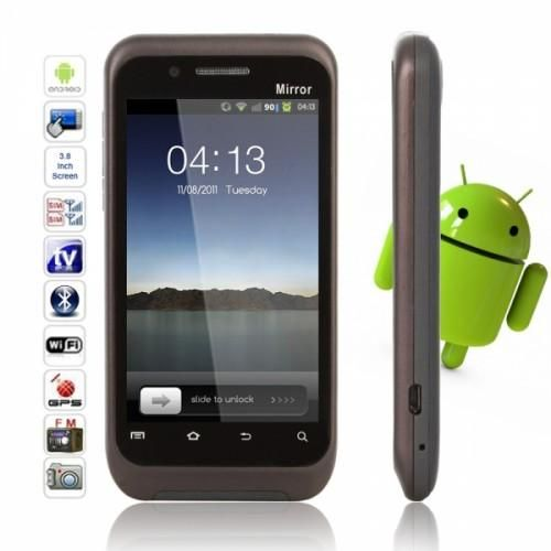 "3.8"" Touch Screen Black Smart Phone   Here's a sleek and slim bar Android you can be the proud owner of! With this beauty you'll get amazing modern-day functions to serve today's communication and entertainment needs. It features durable electronic components, advanced technology, a high-definition screen..."