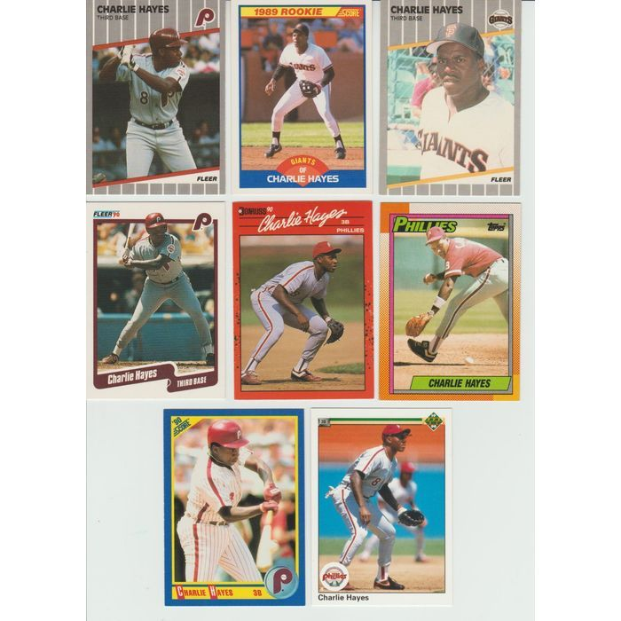 Huge lot of 30 CHARLIE HAYES cards lot 2 RC 1989 - 1996 Giants Rockies Phillies Listing in the 1980-1989,Lots,MLB,Baseball,Sports Cards,Sport Memorabilia & Cards Category on eBid United States   147987671