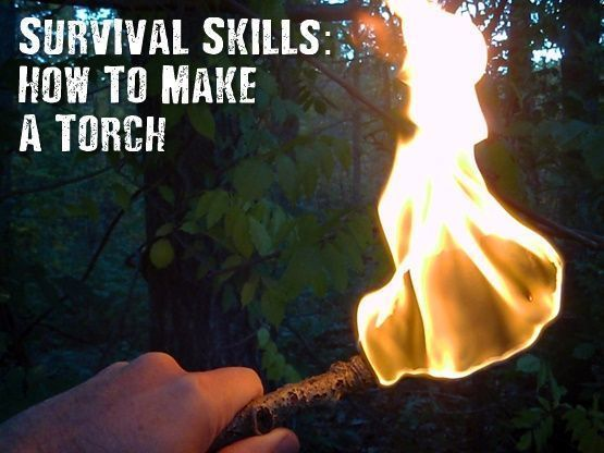 Survival Skills: How To Make A Torch - This is a great survival tool. If you run out of batteries this will be an invaluable skill to know.