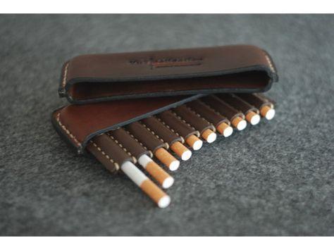 Zigaretten-Lederetui Geschenke für Raucher von ArtLeatherDesign