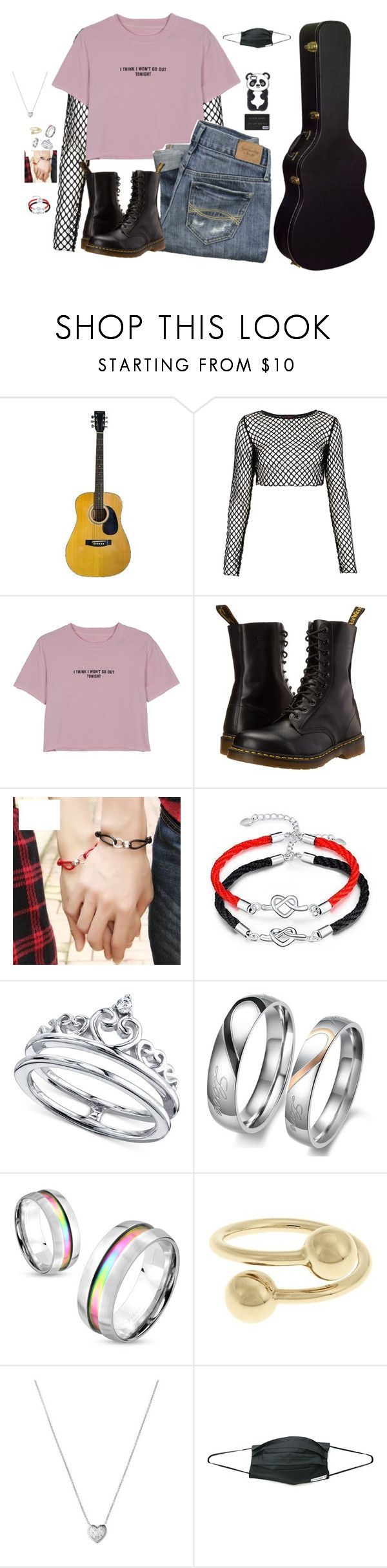 """Bringing food to Hyunki~Luna"" by luna-from-dna ❤ liked on Polyvore featuring Motel, WithChic, Abercrombie & Fitch, Dr. Martens, Unwritten, West Coast Jewelry, J.W. Anderson and Links of London"