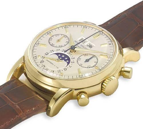 Quasi unique chrono Patek réf 2499 pour Tiffany & Co