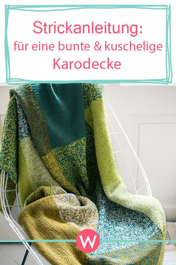 Bunte Karodecke Stricken Stricken Häkeln Pinterest Knitting