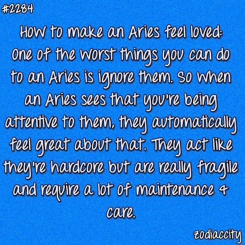 Aries man ignoring me