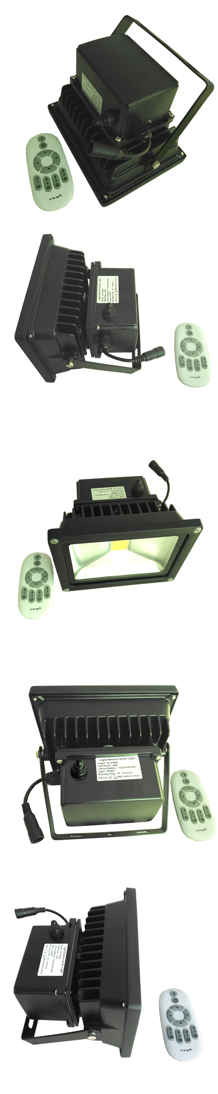 20W Solar Light LED Outdoor Flood Light camping Lamp Garden light Remote control stepless dimming