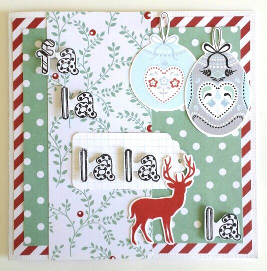 Guest Designer for Paper Wings Productions : December Challenge: Christmas card by Amanda Baldwin