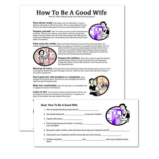 Printable How To Be A Good Wife