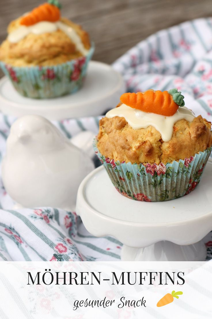 A healthy snack for children are for example carrot muffins. Apple and carrot …   – Kuchen Backen – Rezepte