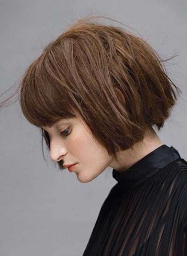 Cortes de cabello de moda 2016: fotos de los cortes de pelo - Melena corta con flequillo