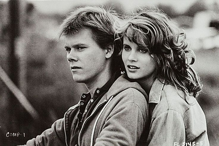 "Kevin Bacon y Lori Singer en ""Footloose"", 1984"