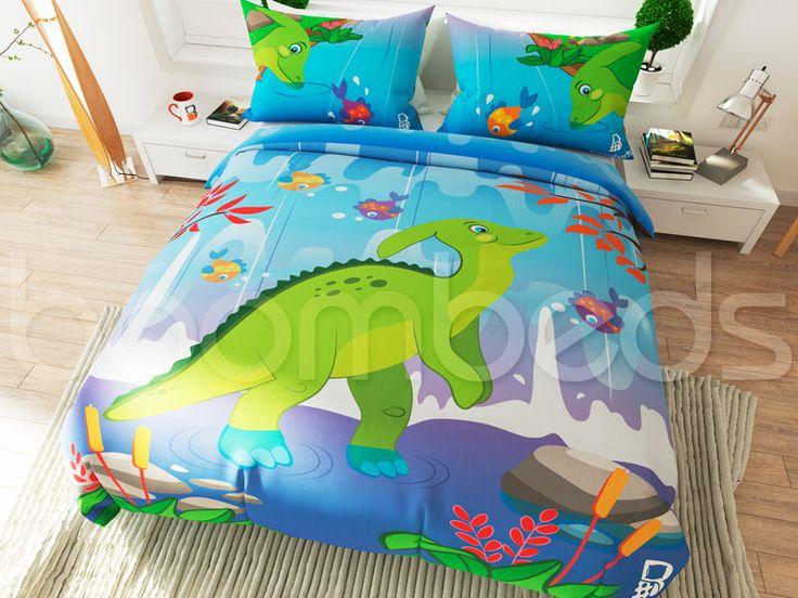 Dinosaur Bedding – Parasaurolophus - boombeds!