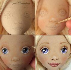Малюєм обличча ляльці