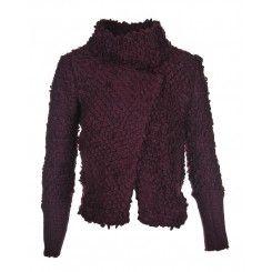 IRO Caty Burgundy Boucle Jacket
