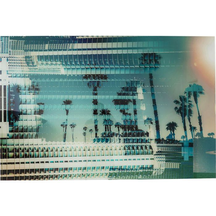 Picture Glas Palms Buildingby Mayk Azzato100x150 - KARE Design #kare #karedesign #azzato #photography #maykazzato #palms #city #buildings #miami #palm #sundowner #summerinthecity