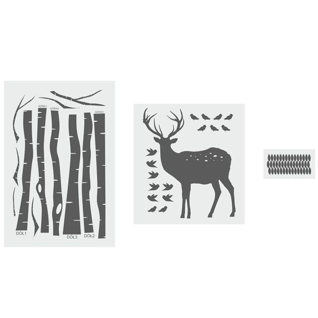 BRZOZY I JELONEK - naklejki na ścianę, naklejki ścienne