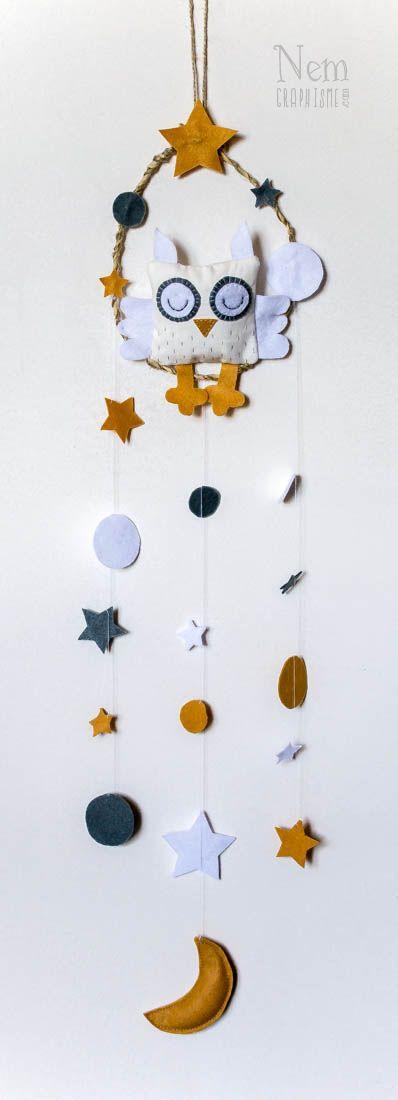 Attrape chouette / Owl dreamcatcher - DIY -Nemgraphisme.com