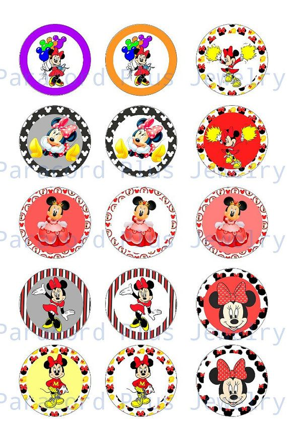 Check out this item in my Etsy shop https://www.etsy.com/ca/listing/261627178/minnie-mouse-bottlecap-digital-collage