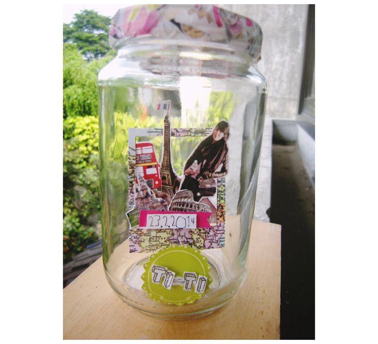 pop up scrap jar traveler